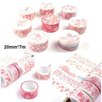 DIY Self Adhesive Sakura Washi Masking Tape Sticker Craft Scrapbooking Sticker