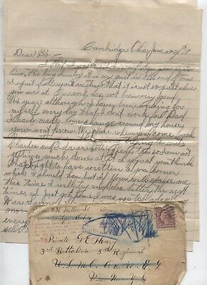 1918 World War I Letter Cambridge Ohio HENRY Family US Marine Brother to Brother