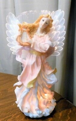 Treasures Collectable Fiber Optic Angel Figurine Electric with box