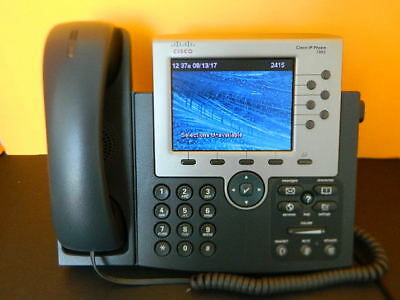 Cisco Cp-7965G Colored Unified Ip Telephone With Handset Tested Working