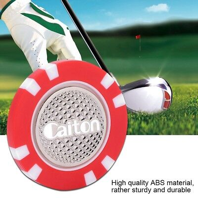 CAITON Golf Poker Chip ABS Golf Marker Magnetic Hat Clip Level Ball Marker Gift