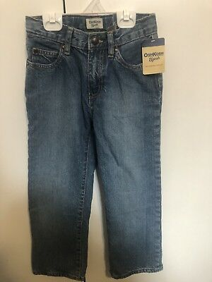 Boys Size 7 Mid Blue Jeans Osh Kosh B'gosh New BNWT 100% Cotton