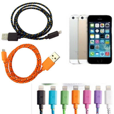 1M 2M 3M 8 PIN USB Data Sync Charger Cable BRAIDED For iPhone SE 5 5s 6 7 plu AU