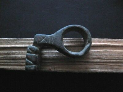 ANCIENT ROMAN BRONZE LUXURY RING DOOR LOCK KEY 1-2 ct A.D. FROM VILLA RUSTICA