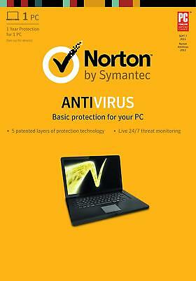 Norton Antivirus 1Year/1PC 366days Worldwide except USA, Canada, Germany, France