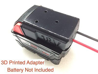 2x  battery adapters for Milwaukee 18V M18 XC18 dock power connector 12 gauge