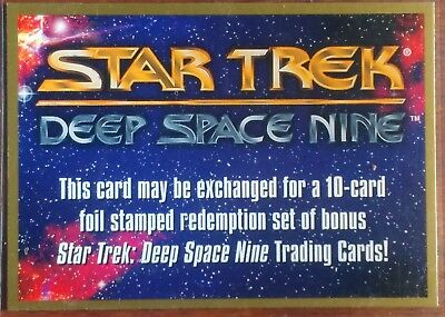 1993 Skybox Star Trek DS9 MEGA Rare Unredeemed Exchange Redemption Card