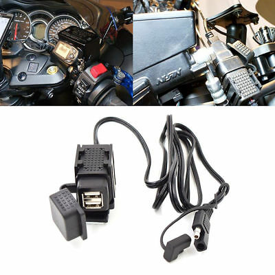 Dual Ports SAE To USB Cable Adaptor Motorcycle Charger Socket For Phone Tablet
