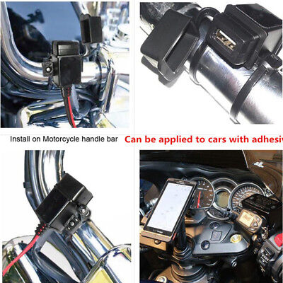Motorcycle SAE to USB 2.1A Cable Adapter USB Charger Kit Inline Fuse Waterproof