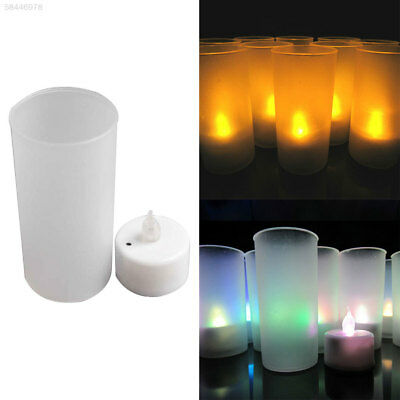 72A7 Christmas Accessory Gifts Electronic Candle Soft 4*3.5cm Yellow/Colorful