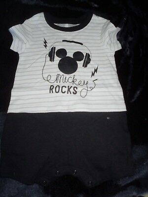Boys new MICKEY ROCKS romper size 0