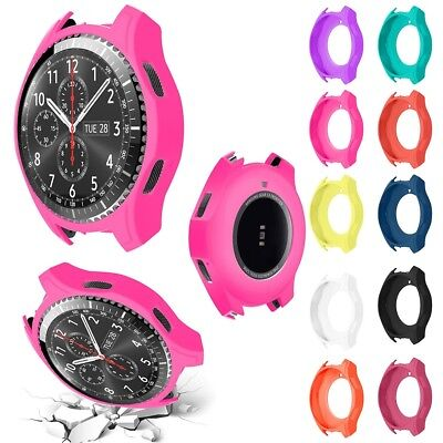 UK Silicone Bracelet Strap Watch Band Case Cover For Samsung Gear S3 Frontier