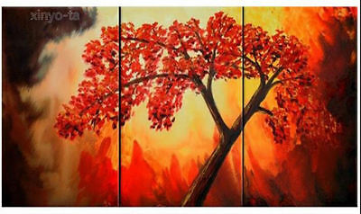 ENOPT221 vogue red tree 100% hand-painted landscape oil painting art on canvas