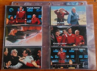 1995 Skybox Star Trek Star Trek Generations Widevision 72 Card Base Set