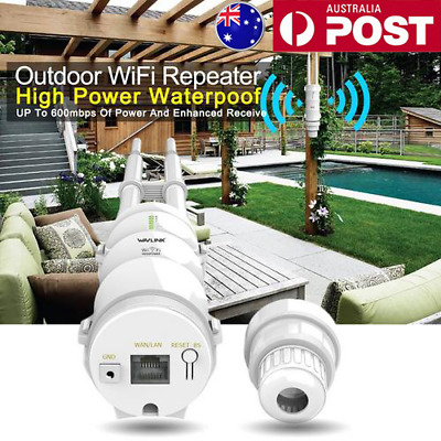 Outdoor Wireless AP Router Access Point Wifi Repeater Booster Waterproof 2.4G/5G