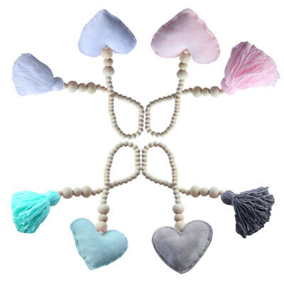 Fashion Nordic Style Wooden Beads Tassels Hanging Children's Room Pendant Decor