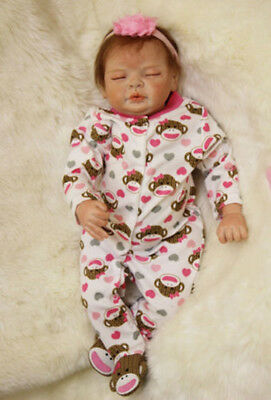 "50cm/20"" Cute Reborn doll baby BOY Life like Realistic Full Silicone Vinyl body"