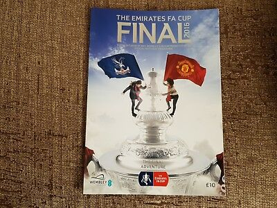 Manchester United V Crystal Palace 2016 F A Cup Final