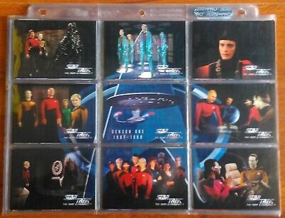 1994 Skybox Star Trek TNG The Next Generation Season One 108 Card Base Set