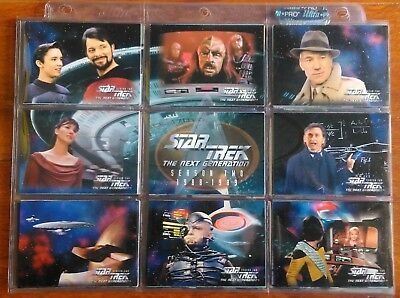 1995 Skybox Star Trek TNG The Next Generation Season Two 96 Card Base Set