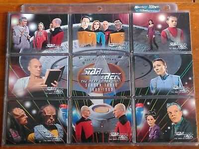 1995 Skybox Star Trek TNG The Next Generation Season Three 108 Card Base Set