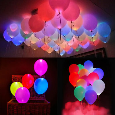 Led Balloon Light Up Balloons Party Decoration Wedding Birthday Multi-Color