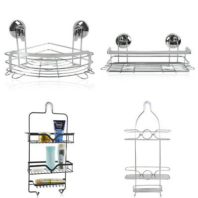 Bath Shower Caddy Storage Stainless Steel Hanging Shelf Bathroom Organizer Rack
