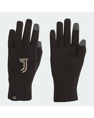 Juventus Adidas Guanti Invernali Fashion Gloves Touchscreen Nero 2018 19 Unise