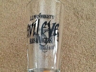 J.J. Wainwright's  Evil Eye Ales & Lager Beer Glass