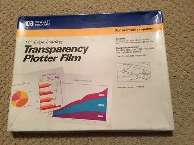 "Hp 11"" Edge Loading Transparency Plotter Film-Box Of 47"