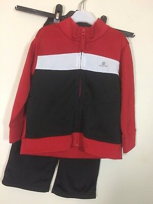 000a01fc21e81 SURVETEMENT JOGGING SPORT rouge noir Domyos Decatlon 2 ans tbe (C243 ...