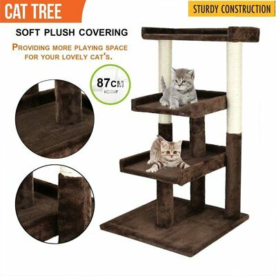 Pet! Cat Scratching Post Tree Gym House Condo Furniture Scratcher Funny Toy 87CM