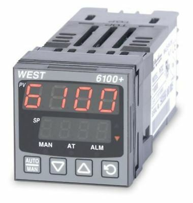 West Instruments P6100 PID Temperature Controller, 48 x 48 (1/16 DIN)mm, 1 Outpu