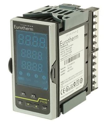 Eurotherm P108 PID Temperature Controller, 48 x 96mm, 3 Output Logic, Relay, 100