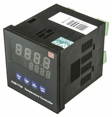 RS Pro DIN Rail PID Temperature Controller, 72 x 72mm, 3 Output SSR, 24 V ac/dc