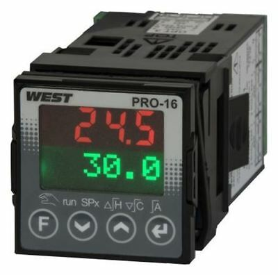 West Instruments KS20 PID Temperature Controller, 48 x 48mm, 6 Output Relay, 100