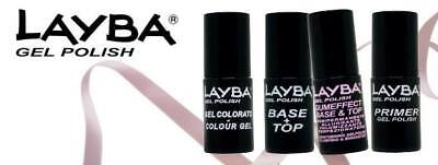 Smalto Semipermanente Layba Gel Polish 5 Ml Tutti Colori Primer Base Top Buffer