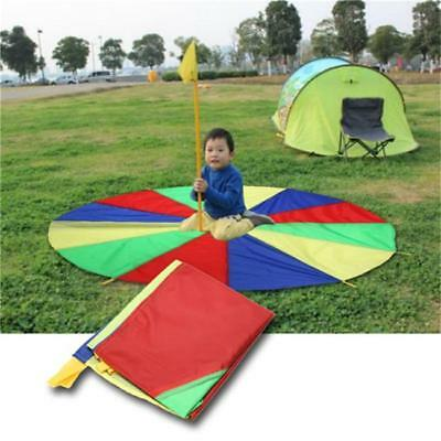 Giant Parachute Toy Kids Sport Active Play Game Outdoor Teamwork Rainbow 8C