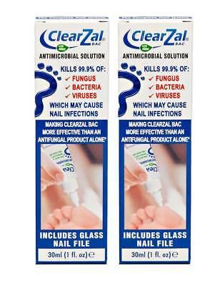 ClearZal BAC Antimicrobial Solution 30ml Kills Fungus, Bacteria & Viruses x 2