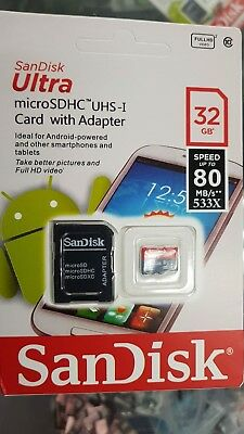NEW SanDisk Class 10 Ultra 32GB 98MB/s Micro SD SDHC Memory Card with adapter