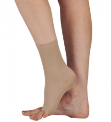 Activa CLASS 2 Compression Anklets / Cotton / SAND, Open Toe, LARGE