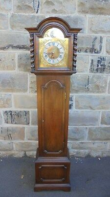 Antique Oak Cased Granddaughter Clock