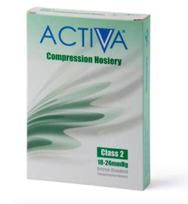 Activa CLASS 2 Compression Hosiery / Below Knee , SAND, C/Toe, SMALL