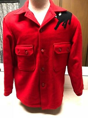 1960's Boy Scout Red Wool Philmont Jacket