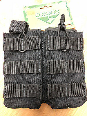 Black Tactical Rifle Molle Pouch Condor MA19 Double Open Top 5.56 Mag Pouch