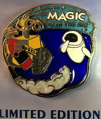 Disney Pin Wall-E Eve Magic Is In The Air Quarterly Collection Le Stained Glass