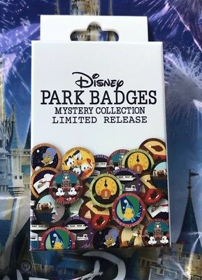 Disney Parks Mystery Pin Collection Badges One UNOPENED BOX Limited Release
