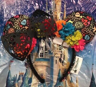 Disney Pixar Dia de los Muertos Coco Minnie Mouse Ears Headband NEW In Hand