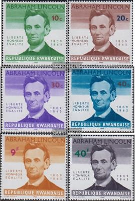 Rwanda 97A-102A (complete.issue.) unmounted mint / never hinged 1965 A. Lincoln