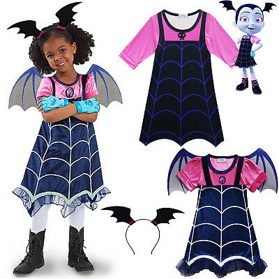 Vampirina Prinzessin Kinder Mädchen Kleid Party Cosplay Kostüm Fancy Halloween